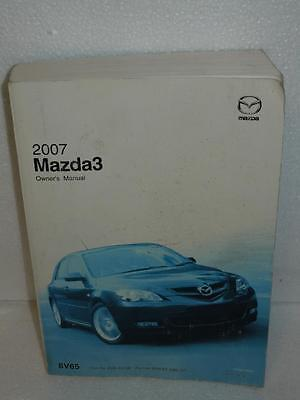 2007 Mazda 3 Owner's Manual Book OEM Vehicle Guide Canada English & French Japan