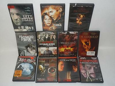 DVD Movie Lot of 11 Horror Thriller Films Rampage, Plasterhead, The Flock, 338 +