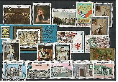 Lot of 18 stamps Caribbean Island - CTO