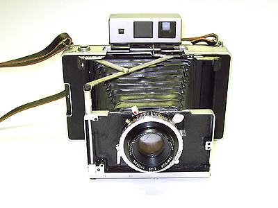 Cool Polaroid 180 Land Camera Conversion- Compur Shutter Tominon 114mm f4.5 lens