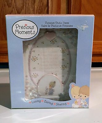 2003 Precious Moments Loving Caring Sharing Porcelain 4x6 Photo Frame