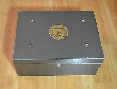 Walz security chest safe fireproof - made in chicago vintage - antique