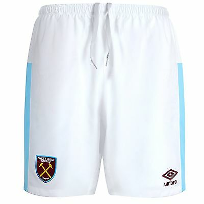 WEST HAM UNITED 2016/17 Soccer FOOTBALL UMBRO Home SHORTS Mens Adults Sz Large