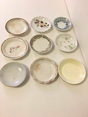 Lot Of 9 Antique Vintage Porcelain Butter Pat Dishes
