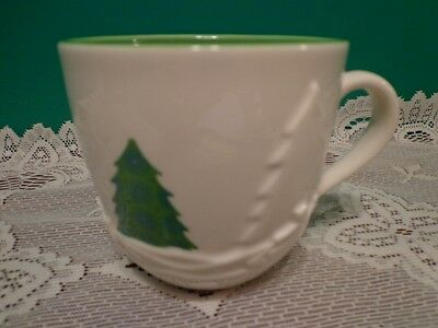 Starbucks Holiday 2006 Coffee Cup Mug Green Christmas Tree 16 oz
