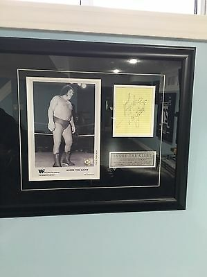 """ANDRE THE GIANT Autographed Signed 8"""" x 10"""" Framed Photo RARE wwf wwe wcw"""
