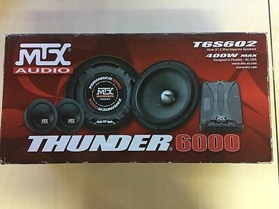 MTX Audio T6S602 6″ 2 Way Separate Speaker 400w Max (Pair).