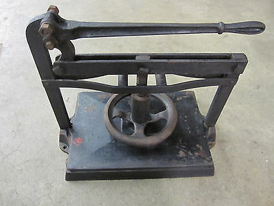 Vintage Antique Cast Iron Book Binding Press Heavy Printing Industrial Steampunk