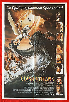 CLASH OF THE TITANS - Original 1981 Australian cinema One-Sheet movie poster