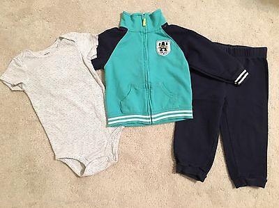 EUC!!  Carter's Baby Toddler Boys 3-piece Outfit ~ Size 24 Months