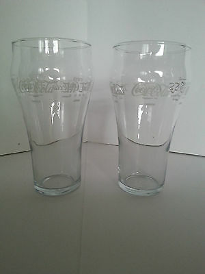 Coca Cola Lot Of 2 Collectible Glasses With 5 Different Languages