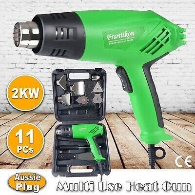 11PCs 2000W Hot Air Heat Gun w/ Nozzles 2 Speed&Temp Wall Paper Paint Stripper