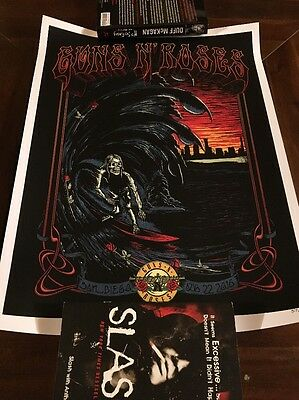 Guns N Roses Poster San Diego Litho Only 300 Made Lifetime