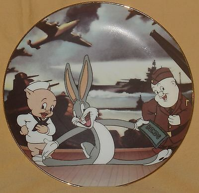 1992 Bugs Bunny Porky Pig Looney Tunes Warner Brothers Limited Edition Plate