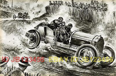 Opel (1908) French Grand Prix, Auto Racing 1950s Print
