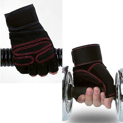 #M 1 pair Weight lifting Gym Gloves Training Wrist Wrap Workout Exercise Unisex