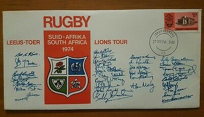 1974 British Lions Rugby Tour Of South Africa - Fdc