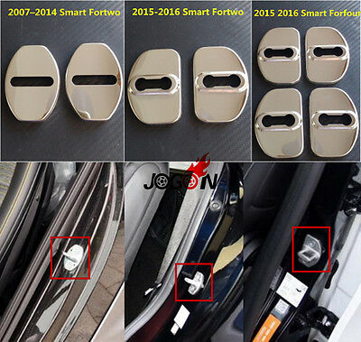 Door Lock Buckle Striker Cover For Smart Fortwo W451 W453 Forfour 2007-2016