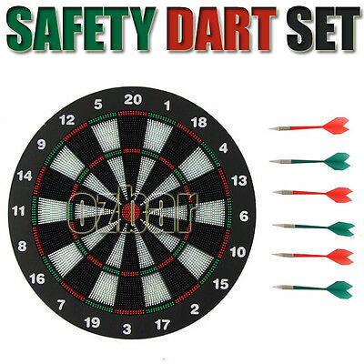 Safe Dart Board with 6 Soft Rubber Tip Darts for Kids and Adults