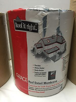 "Grace Roof Detail Membrane roll 9"" X 50'  Leak Proof  Waterproof"