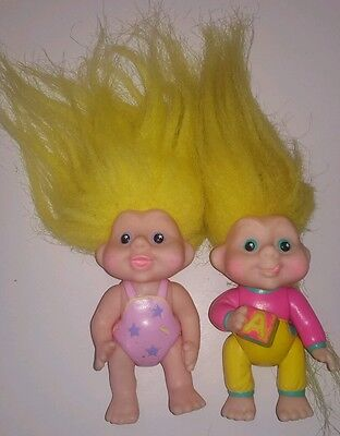 Vintage 1991 Applause Baby Poseable Magic Troll Doll toy figurine figures 1990's
