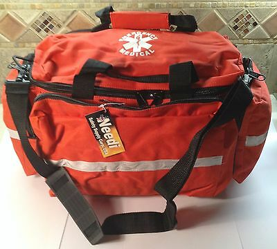 Professional First Responder EMS EMT Medical Emergency Gear Bag - RED