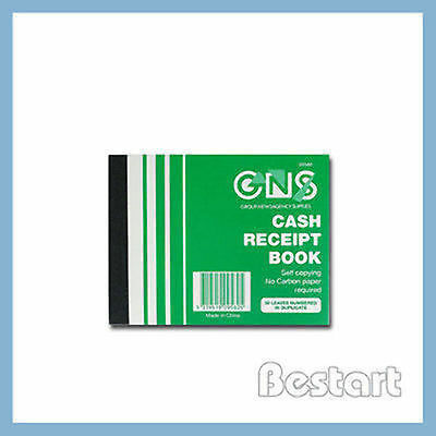 "GNS CASH RECEIPT BOOK #9580 CARBONLESS 4""x 5"" DUPLICATE PK10"