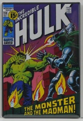The Incredible Hulk #144 Comic Book - Fridge / Locker Magnet. Dr. Doom!