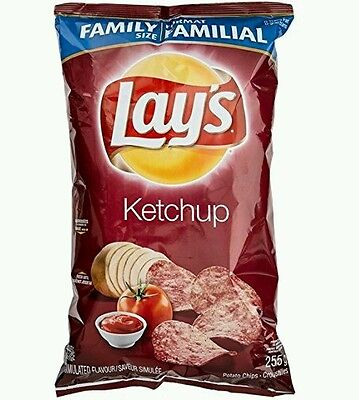 8 bags of lays ketchup chips 255g 8 bag lot