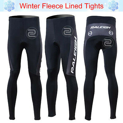 Mens Cycling Tights Winter Bike Thermal Padded Bottoms Pants Cycle Long Trousers