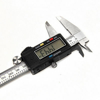 6 Inch/150mm Stainless Steel Vernier Caliper Electronic LCD Digital Micrometer