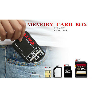 14 Slots Card Box Memory Sd Case Storage Holder Micro Tf Sdhc Protector Plastic