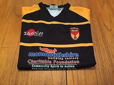 Small Rare Unworn  Newport Rugby Home Shirt...black And Ambers