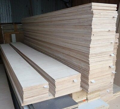 10 Pieces of NEW 9mm Birch Plywood 8ft x 10½in