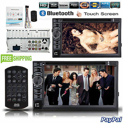 "NEW Double DIN 6.2"" dash Car Stereo Radio CD DVD Player FM/USB/SD Bluetooth MP3"