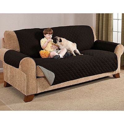 Sofa Seat Arm Chair Settee Protector Quilted Slip Cover For Home Furniture
