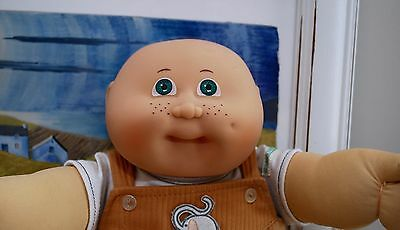 Cabbage Patch vintage Jesmar #3 green eye doll with Jesmar outfit and shoes