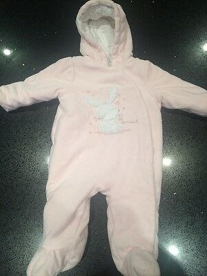 Baby Girl Snowsuit Coat Mothercare Age 3-6 Months