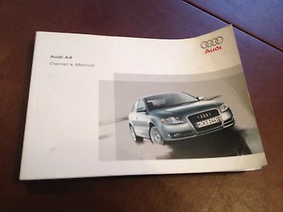 Audi A4 Saloon Handbook  Owners Manual  2004 2008  385 Pages