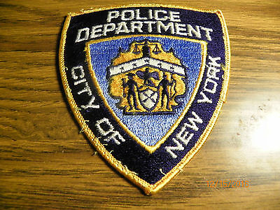 POLICE DEPT '' City of new york'' POLICE  PATCH  4'' X 41/2 ''
