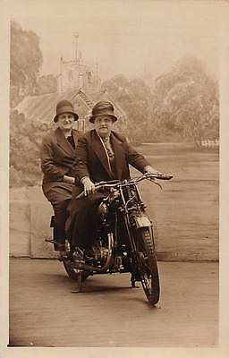 Elegant Fashion Women on motorcycle moped autocycle, Charles Howell, Blackpool