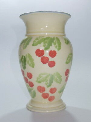 Rare Vintage Poole Pottery Dorset Fruits Cherry 7 Inch Vase