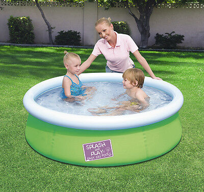 BESTWAY MY FIRST FAST SET POOL GREEN Φ152cm x 38cm FOR CHILDREN/ EASY TO SET UP