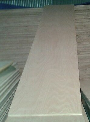 5 Pieces of NEW 15mm Hardwood Plywood 8ft x 21in (2440mm x 540mm)