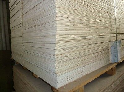 50 Pieces of NEW 15mm Hardwood Plywood 8ft x 21in (2440mm x 540mm)