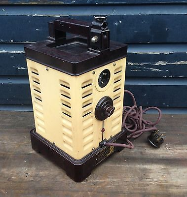 Vintage Bakelite Hanovia power block from lamp, Steampunk Art Deco