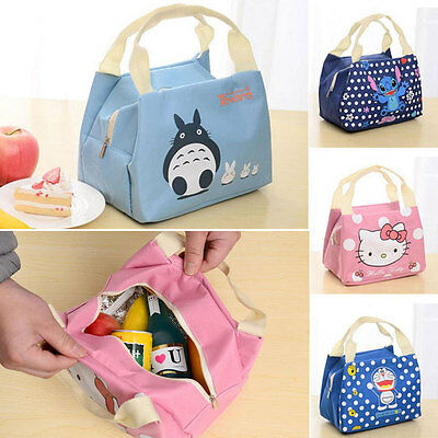 Portable Insulated Thermal Cooler Cartoon Lunch Box Carry Tote Storage Bag Case