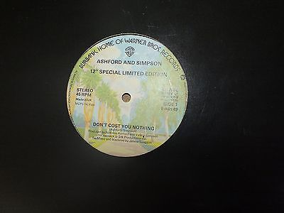 """Ashford And Simpson  – Don't Cost You Nothing 12"""" Single                     68"""