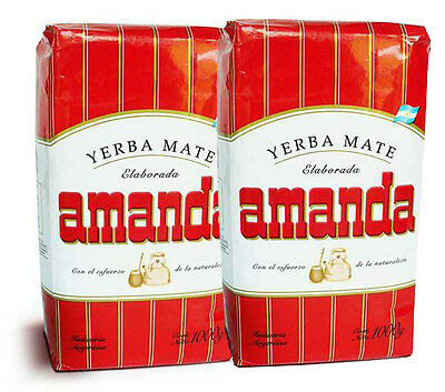 2 Packs AMANDA YERBA MATE, Argentina Traditional tea Gluten Free 2x1kg