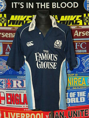 4.5/5 Scotland adults XL retro canterbury rugby union shirt jersey trikot soccer